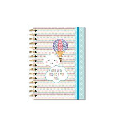 Caderno Midi Nuvem e Balão 96 folhas