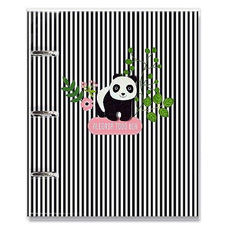 Caderno Fichário 3 Furos Panda
