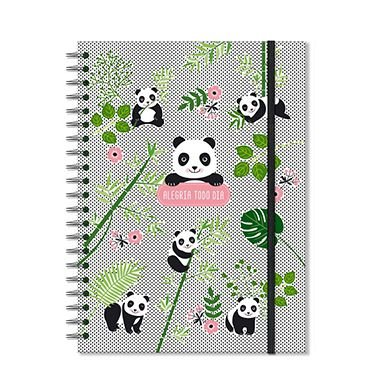 Caderno Panda Grande 96 folhas
