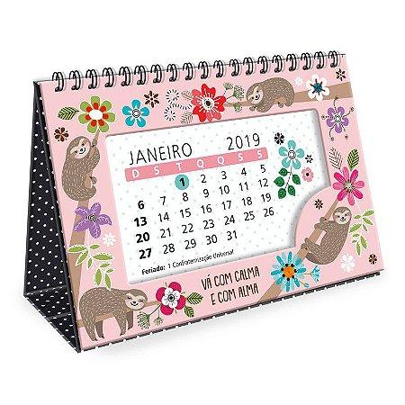 Calendário de Mesa Preguiça 2019