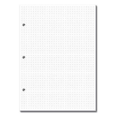 Refil Caderno Fichario 3 Furos Pontilhado 165x230mm