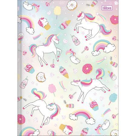 Caderno Brochura Unicórnio Cute 80 folhas