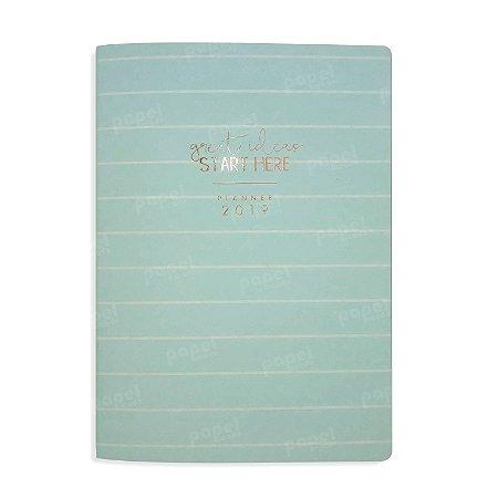 Planner Mensal Brochura Flexível Soho Verde