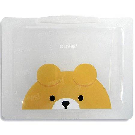 Pasta Plástica com Fechamento Ursinho Oliver
