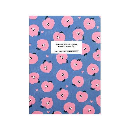 Caderninho Brochura Pequeno Pêssegos