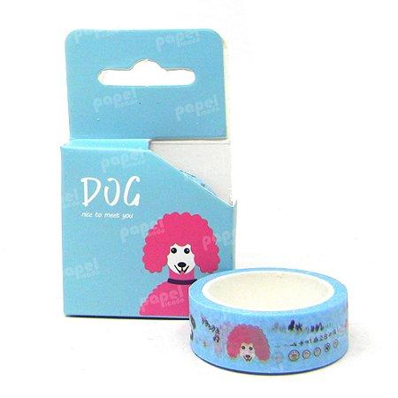 Fita Adesiva Washi Tape Dog Azul
