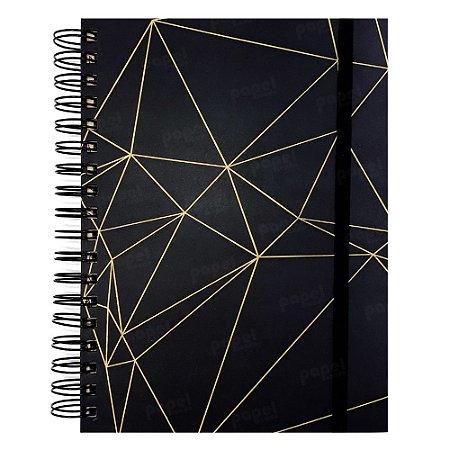 Planner Permanente Preto Geométrico