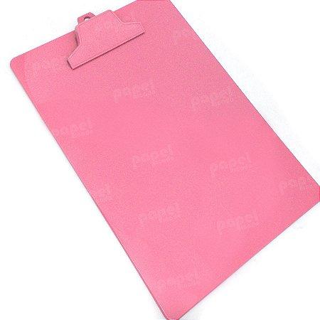 Prancheta com Prendedor Rosa A4