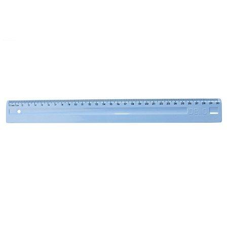 Régua 30cm Azul Pastel