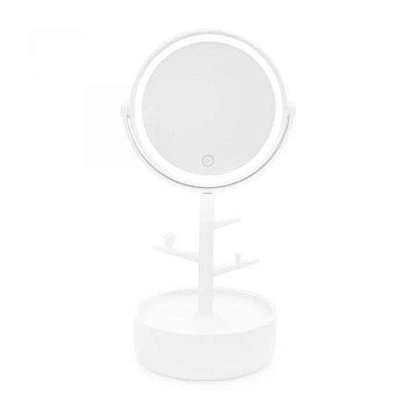 Espelho com Led Porta Bijoux Branco