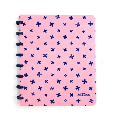 Caderno de Discos Pastel A5 Rosa e Azul