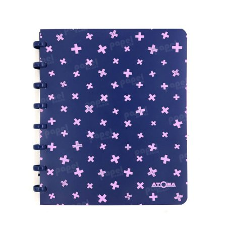 Caderno de Discos Pastel A5 Azul e Rosa