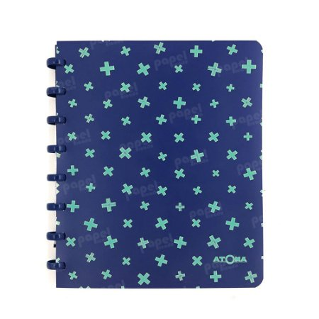 Caderno de Discos Pastel A5 Azul e Verde