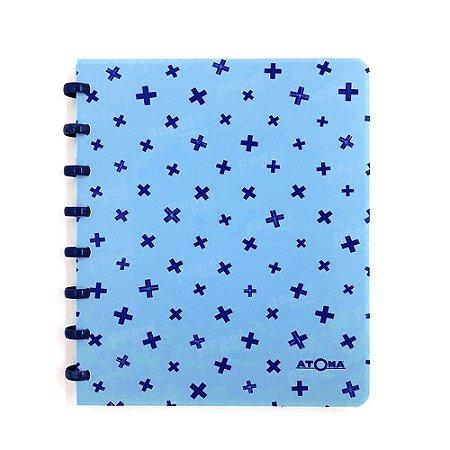 Caderno de Discos Pastel A5 Azul Claro Estampado