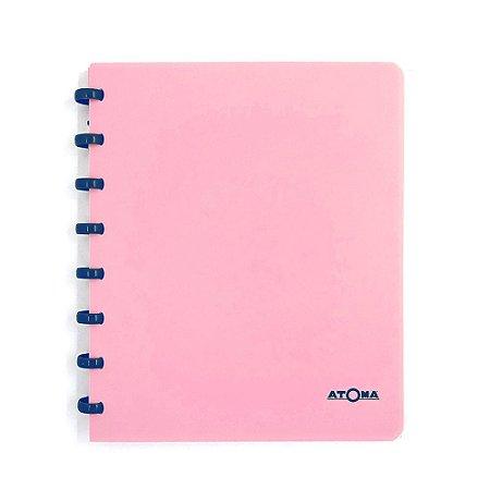 Caderno de Discos Rosa Pastel Liso A5