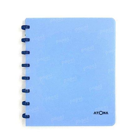 Caderno de Discos Azul Pastel Liso A5