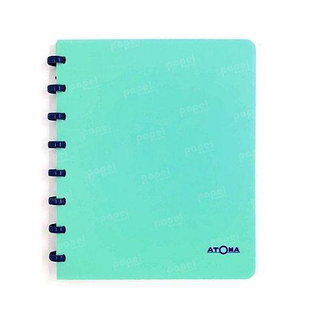 Caderno de Discos Verde Pastel Liso A5