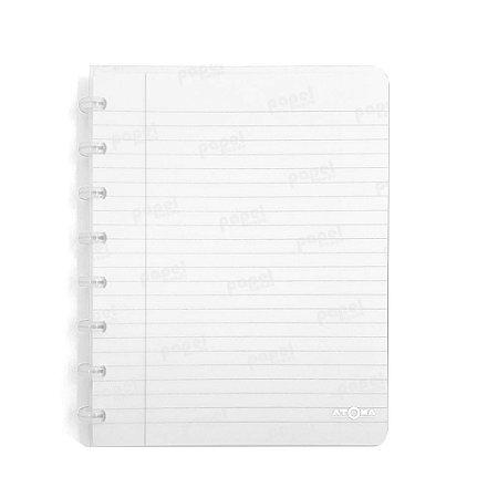 Caderno de Discos Branco Transparente A5