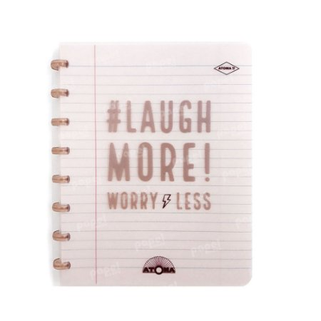 Caderno de Discos Cobre Laugh More A5