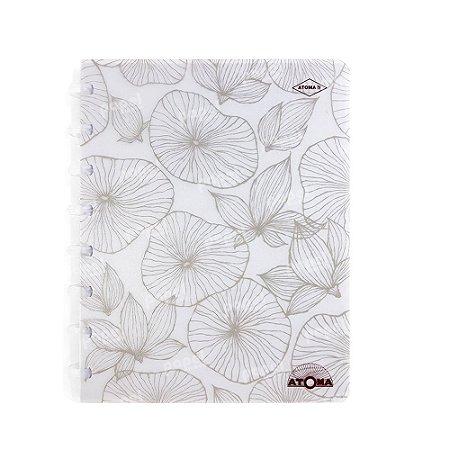 Caderno de Discos Pattern Prata A5