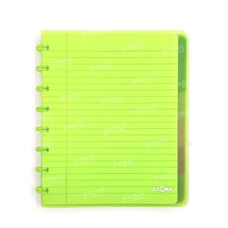 Caderno de Discos Verde Transparente Plus A5