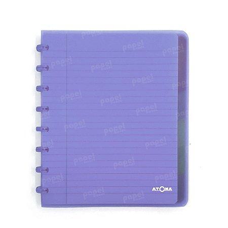 Caderno de Discos Lilás Transparente Plus A5