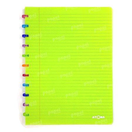 Caderno de Discos Verde Tutti Frutti A4