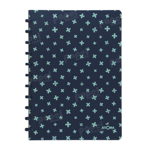 Caderno de Discos A4 Azul e Verde
