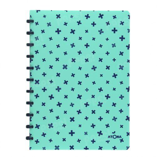 Caderno de Discos A4 Verde Pastel e Azul