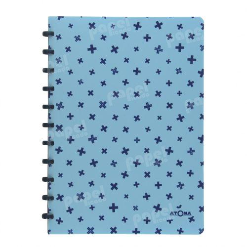 Caderno de Discos A4 Azul Pastel Estampado