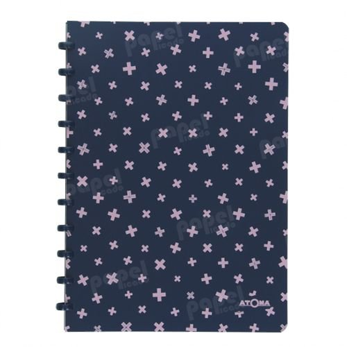 Caderno de Discos A4 Azul e Rosa