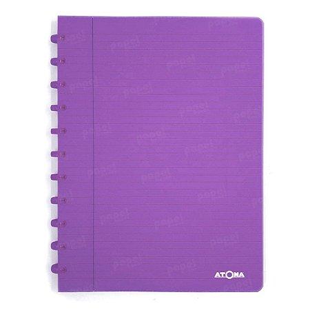 Caderno de Discos Roxo Transparente A4