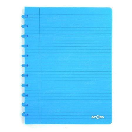 Caderno de Discos Azul Transparente A4