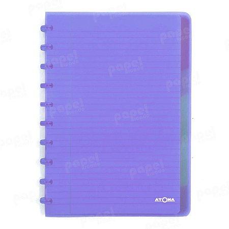 Caderno de Discos Lilás Transparente Plus A4