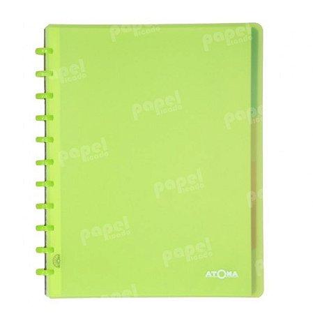 Caderno de Discos Verde Transparente Plus A4