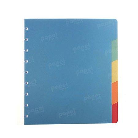 Divisórias Coloridas Caderno de Discos Plus A5