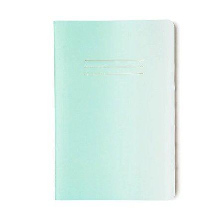 Caderninho brochura Sem Pauta Verde