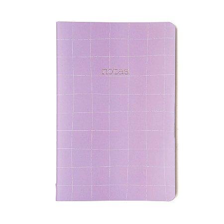 Caderninho brochura Quadriculado Lilas Sem Pauta