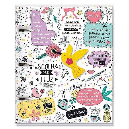 Caderno Fichário 3 Furos Beija Flor