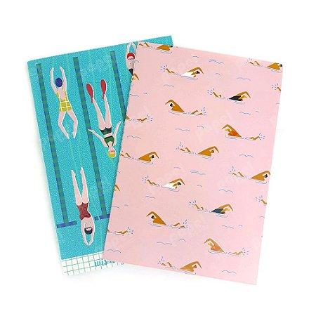 Conjunto 2 Caderninhos Brochura Natação