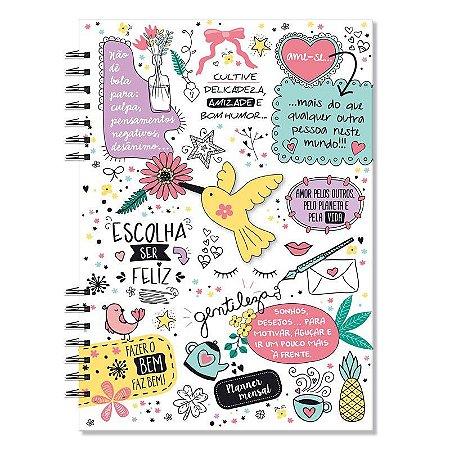 Planner Mensal Compacto Beija-Flor