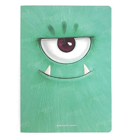 Caderno Brochura Pequeno - Monstros Verde