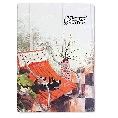 Caderninho Brochura Pintura Cadeira de Balanço