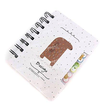 Mini Bloquinho de Anotações Urso