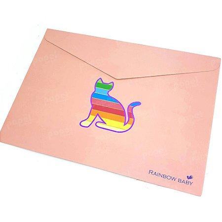 Pasta Envelope Gato Salmão
