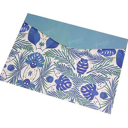 Pasta Envelope Nature Azul