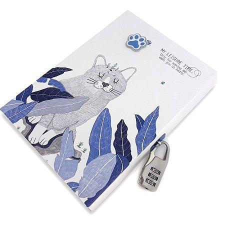 Diário com Cadeado Gato