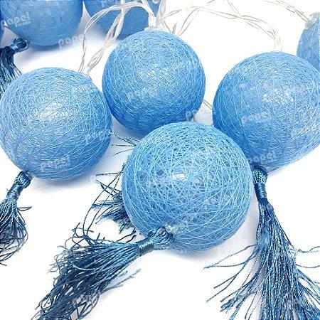 Varal de Luz Bolinhas Azul