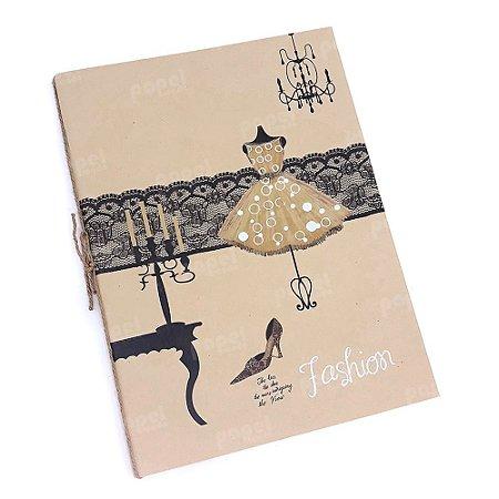 Caderno Brochura Kraft Manequim