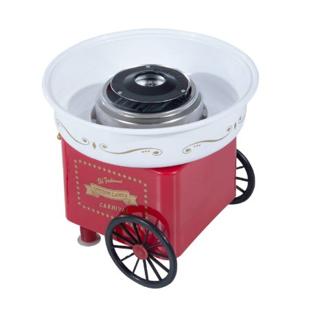 Maquina de Algodão Doce Vermelha e Branco